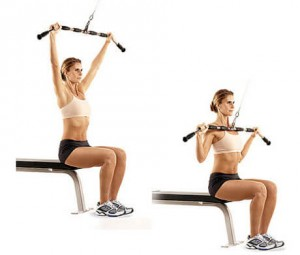 Lat Pulldown back workout for women