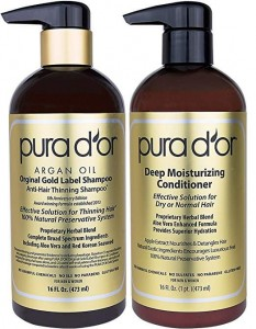 PURA D'OR Original Gold Label Anti-Thinning Shampoo & Deep Moisturizing Conditioner