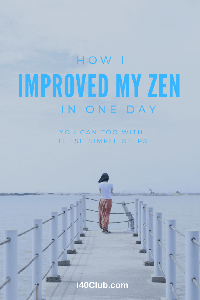How I Improved My Zen in One Day