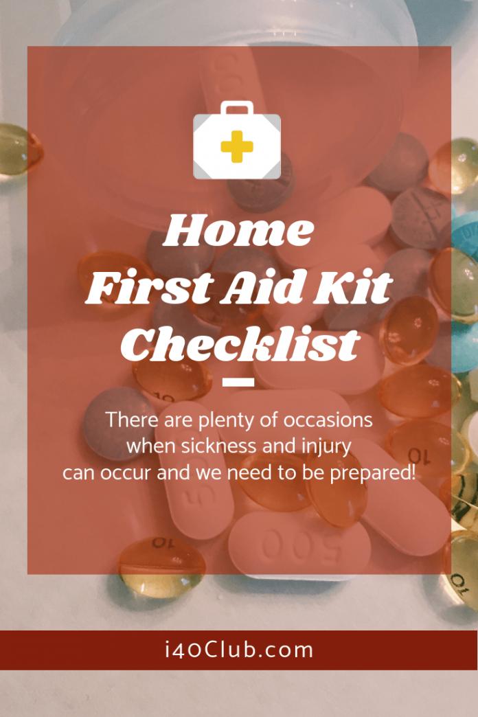 Home First Aid Kit Checklist